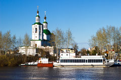 Ascension-St. George`s Church. View of the Ascension-St. George`s Church of Tyumen Royalty Free Stock Photo
