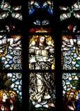 Ascensione del Gesù Cristo in vetro macchiato fotografie stock