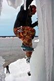 Ascensione del ghiaccio Fotografie Stock