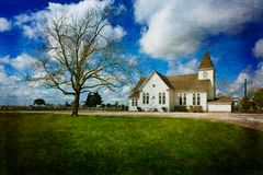 Ascensione del nostro Lord Catholic Church, Moravia il Texas fotografie stock