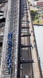 Ascensione del ponticello di porto di Sydney - 24 gennaio 2010 Immagini Stock