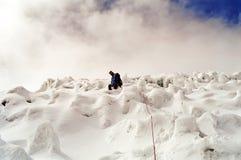 Ascensione della montagna Fotografie Stock