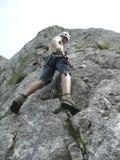 Ascensione della roccia Immagine Stock