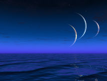 Ascensão estrangeira dos planetas dos mundos Fotos de Stock