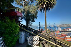 Ascensor Artilleria. Valparaiso. Chile Royalty Free Stock Photo