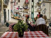 Ascensor da Bica в Лиссабоне, Португалии Стоковое Изображение