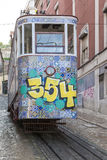 Ascensor da Gloria, funicular railway at Lisbon Stock Photo