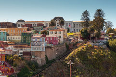 Ascensor Funicular Cerro Artilleria in Valparaiso, Chile Royalty Free Stock Photos