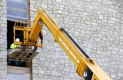 Ascensore dell'asta di costruzione Immagine Stock Libera da Diritti