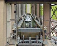 Ascensore della barca di Strepy-Thieu sul canale du Centre Immagine Stock Libera da Diritti