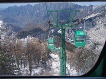 Ascensore della gondola in supporto Taibai, Cina Fotografia Stock Libera da Diritti