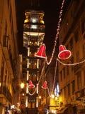 Ascensore di Santa Justa, Lisbona Fotografia Stock Libera da Diritti