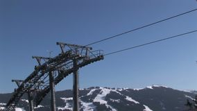 Ascensore di sci in Austria stock footage