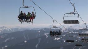 Ascensore di sci in Austria archivi video