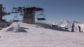 Ascensore di sci in Austria video d archivio