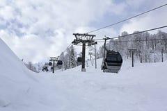 Ascensore di sci in Rosa Khutor Alpine Resort Fotografia Stock
