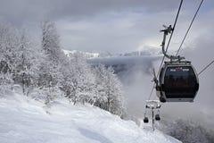 Ascensore di sci in Rosa Khutor Alpine Resort Immagine Stock Libera da Diritti