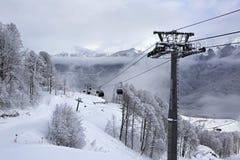 Ascensore di sci in Rosa Khutor Alpine Resort Immagini Stock