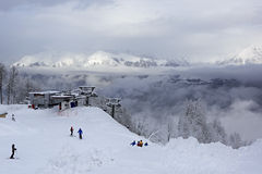 Ascensore di sci in Rosa Khutor Alpine Resort Fotografia Stock Libera da Diritti