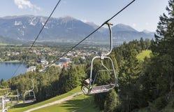 Ascensore di sci in sanguinato in, la Slovenia Fotografia Stock
