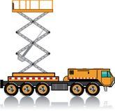 Ascensore enorme del camion illustrazione vettoriale