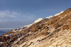 Ascent of Kilimanjaro at sunrise #1 Stock Images