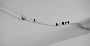 Ascent of Monte Rosa Stock Photography