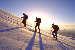 Ascent on Mount Elbrus Royalty Free Stock Photo