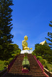 Ascent to golden Big Buddha Stock Photography
