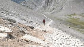 Ascent to Olympus. Climb to the top of Olympus, highest mountain in Greece stock video footage