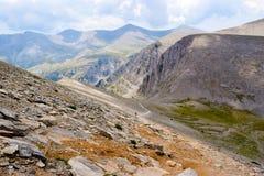 Ascent to Skolio Peak. Royalty Free Stock Images