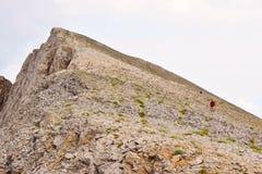 Ascent to Skolio Peak. Royalty Free Stock Photos