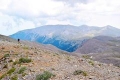 Ascent to Skolio Peak. Royalty Free Stock Photography