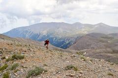 Ascent to Skolio Peak. Royalty Free Stock Photo