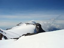 Ascent to top of Iztaccihuatl, Mexico (Popocatepet stock photo