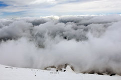Ascent to the Villarrica Volcano Stock Image