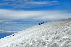 Ascent to the Villarrica Volcano Stock Images