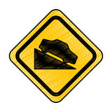 Ascent on track traffic signal icon Stock Photography