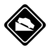 Ascent on track traffic signal icon Royalty Free Stock Images