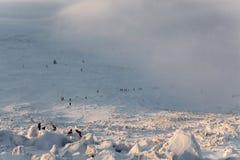 Ascesa di inverno alla montagna Zigalga Repubblica di Bashkortostan immagini stock