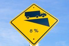 Ascesa ripida 8% della collina Fotografia Stock Libera da Diritti
