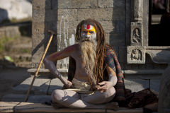 Ascetic. Is some of the early Indian religions as  monks as a means of self-cultivation in India for several thousand years of history. Nepal is the world's Stock Photo