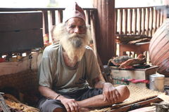 Ascetic in pashupatinath,kathmandu,nepal Stock Image