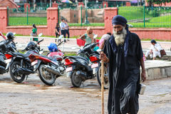 Ascetic in pashupatinath in kathmandu,nepal Stock Image