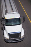 Ascetic Semi truck middle class flat bad top view Royalty Free Stock Image