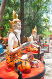 Ascetic statue at the temple, Thailand. Stock Photo
