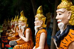 Ascetic statue in Thai style molding art Stock Photos