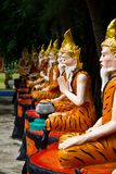 Ascetic statue in Thai style molding art Stock Photo