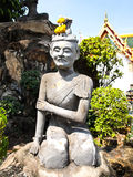 Ascetic statue at wat pho , Bangkok Stock Images