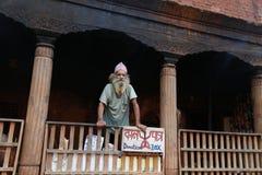 Ascetisch in pashupatinath, Katmandu, Nepal Royalty-vrije Stock Foto's